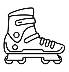 Extreme sport inline skates icon outline style vector