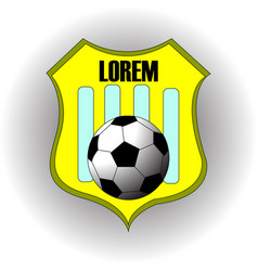 Football soccer yellow team logo with text vector