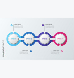 Four steps infographic process chart 4 options vector