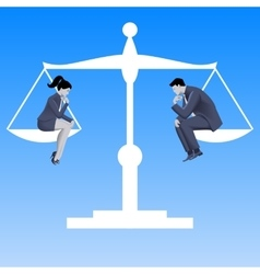 Gender equality business concept vector image