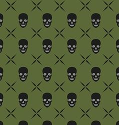 green skull background vector image
