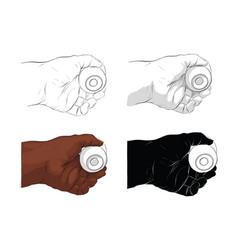 Hand holding door knob vector