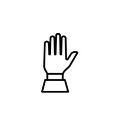 hand line icon in flat style for app ui websites vector image