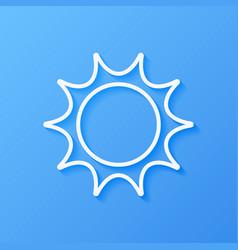 Icon weather sun vector