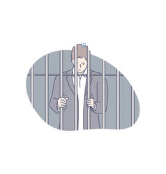 Jail prisoner fraud concept vector