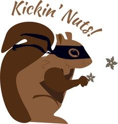 Kickin Nuts vector image