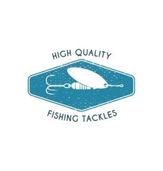 Logo of fishing tackles shop vector image