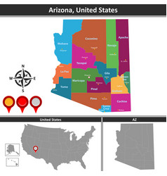 map of arizona us vector image