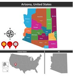 Map of arizona vector