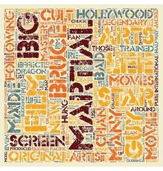 Martial Arts Cult Stars text background wordcloud vector