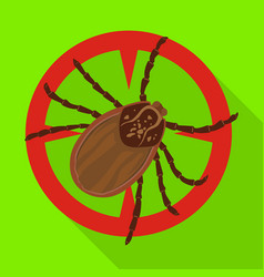 Mite iconflat icon isolated on vector