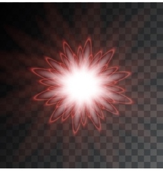 modern light flash on sample background vector image