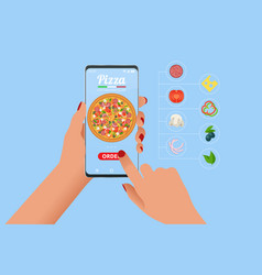 Online pizza order mobile app templates free vector