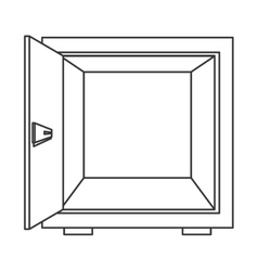 open safe box icon vector image