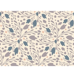 Organic floral pattern in muted colors vector