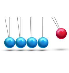 Pendulum classic pendulum with metall vector