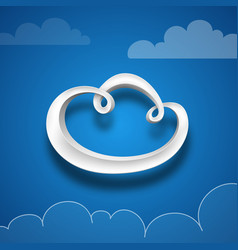 plastic digital cloud vector image