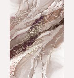 Pouring ink acrylic oainting luxury earthy tone vector