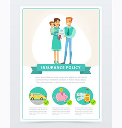 Property finance and travel insurance family vector