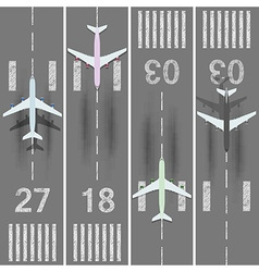 Runways vector image