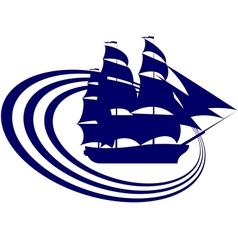 Sailing ship-6 vector