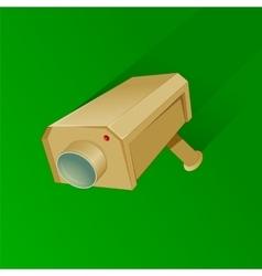 Security camera cartoon vector