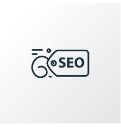 seo tag icon line symbol premium quality isolated vector image