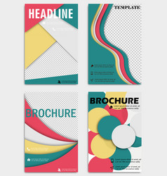 Set of abstract flyers design background vector