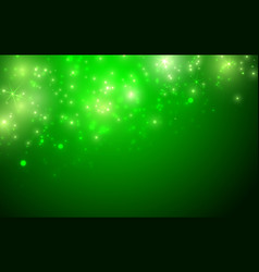 shiny green background with sparkle and bokeh vector image