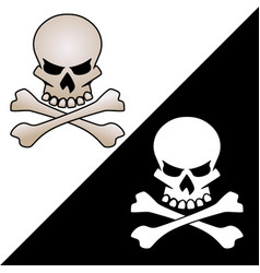skull and crossed bones logo vector image