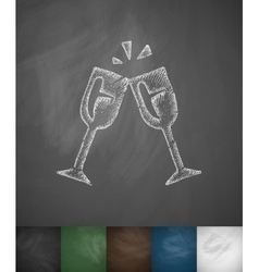 Stemware icon Hand drawn vector