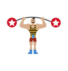 Strong man in circus vector
