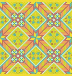 sunny geometrical seamless pattern vector image
