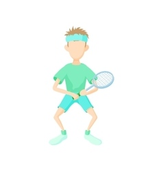 Tennis player icon cartoon style vector image
