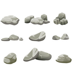 the rocks on a white background vector image