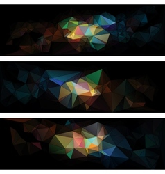 triangular style abstract background triangles vector image