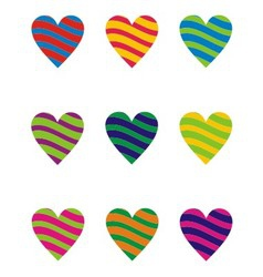 Two Color Heart Element vector