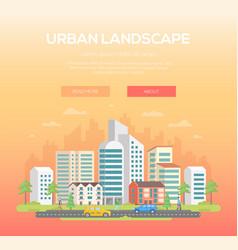 Urban landscape - modern vector
