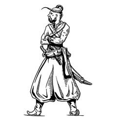 Zaporozhian Cossack vector image