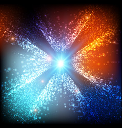 abstract colorful space background vector image