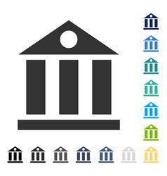 Bank building icon vector