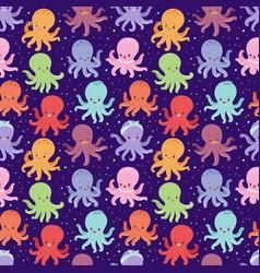 cartoon octopus character vector image vector image