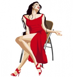 girl in red vector image vector image