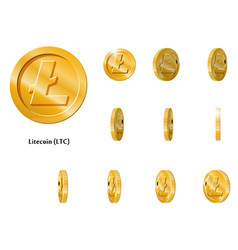 gold rotate litecoin frames vector image vector image