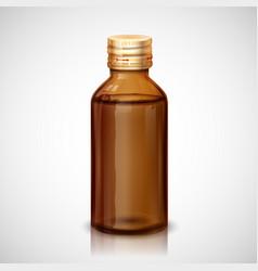 Medicine syrup bottle vector
