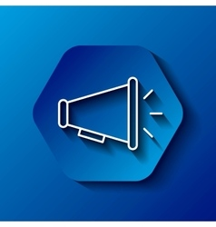 Megaphone icon Communication design over hexagon vector image