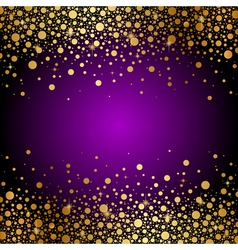 purple and gold luxury background vector image vector image