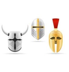 battle helmet 06 vector image
