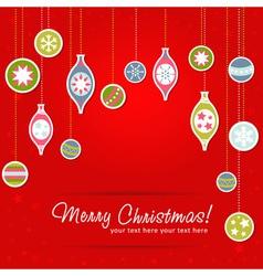 Beautiful design Christmas greeting card with xmas vector image