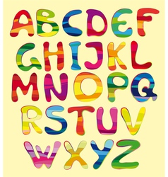 cheerful alphabet vector image vector image